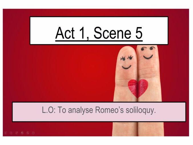 Romeo and Juliet Meeting Act 1 Scene 5