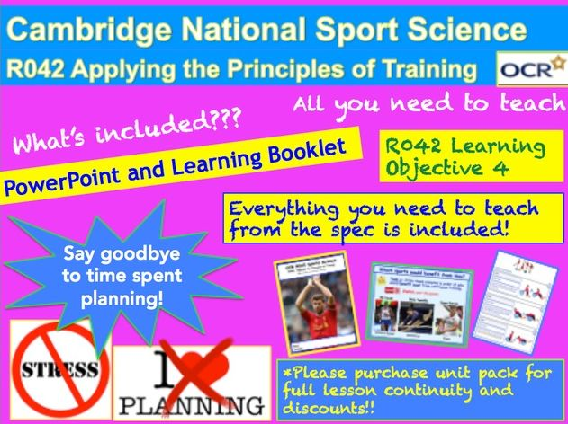 Cambridge National Sports Science R042: Learning Objective 4