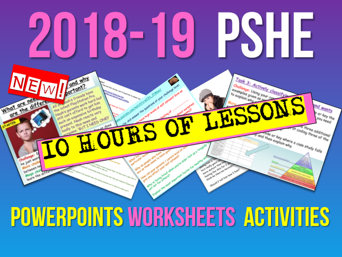 PSHE: New PSHE  Bundle 2018-19