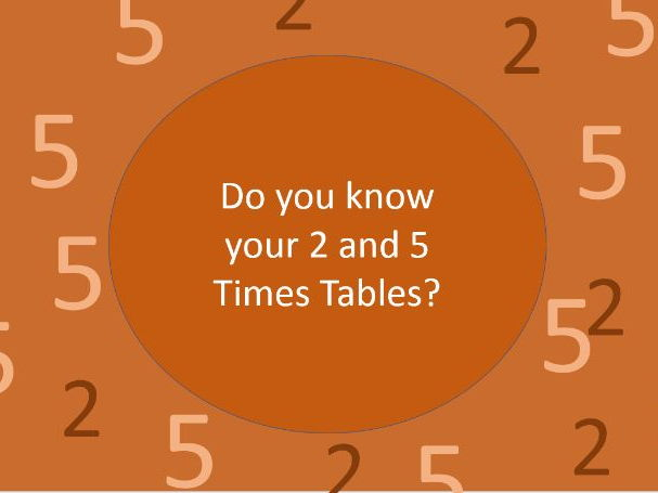 Learn Your 2 and 5 Times Table