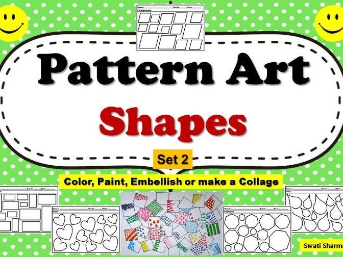 Pop Art/Pattern Art Shapes Set 2 Coloring Pages