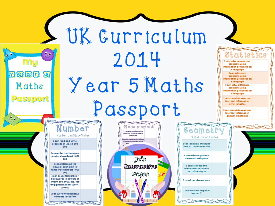 Year 5 National Curriculum Maths Passport