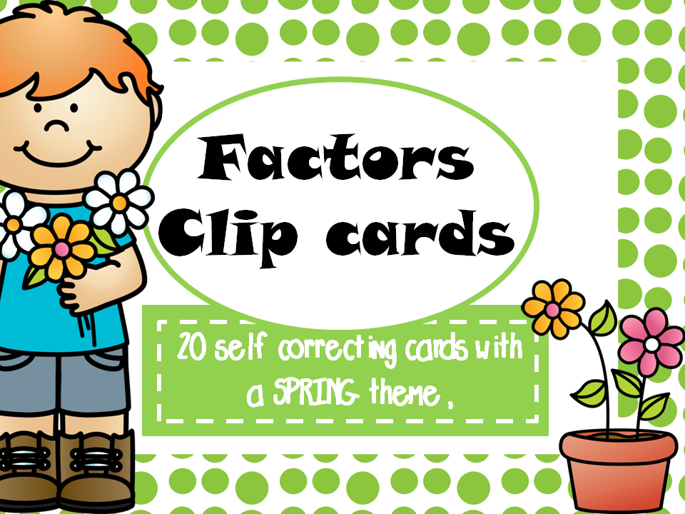 Factors Clip Cards