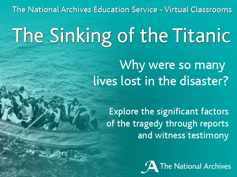 The Sinking of the Titanic Virtual Classroom