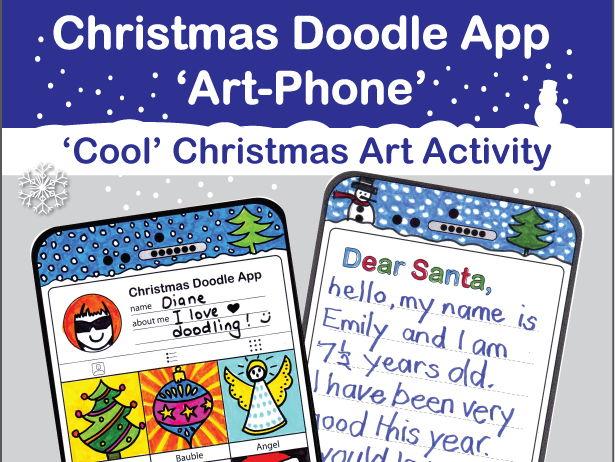 Christmas Doodle App 'Art Phone' creative activity