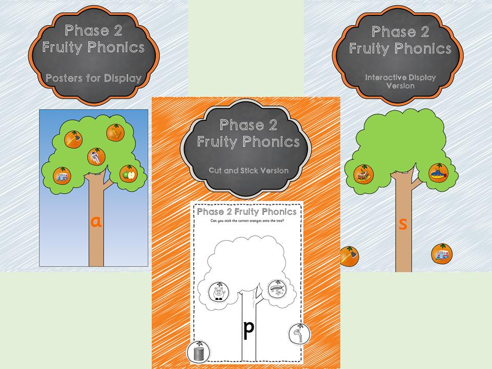 Phase 2 Fruity Phonics Pack