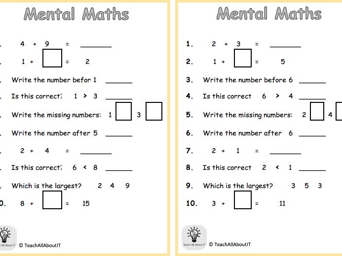 KS1 Mental Maths
