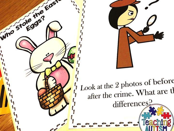 Who Stole the Easter Eggs? Easter Crime Scene