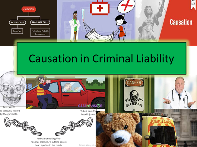 Causation in Criminal Liability -LAW-Lesson and Activities