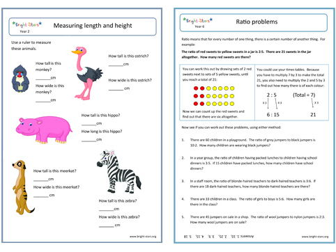 Year 4 Maths Worksheets Pack