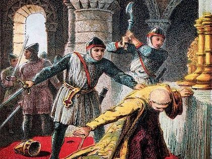 Murder in Canterbury! Thomas Becket mystery!
