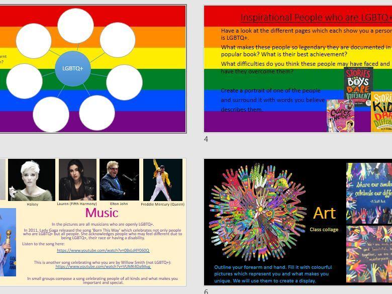 Diversity Week ideas (LGBTQ+) UKS2