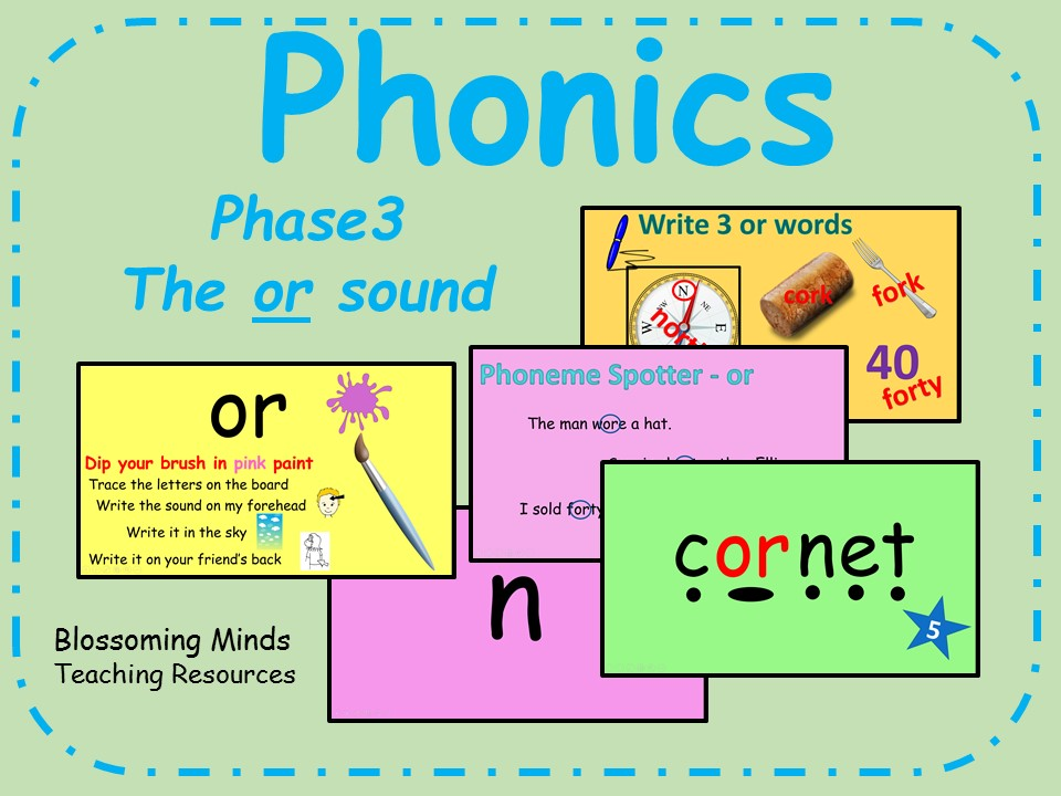 Phonics Phase 3 - The 'or' sound
