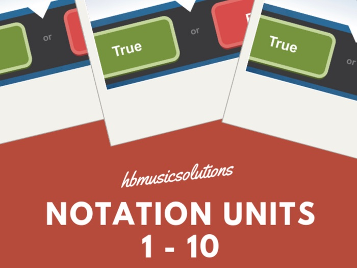Notation Interactive Modules Units 1 - 10