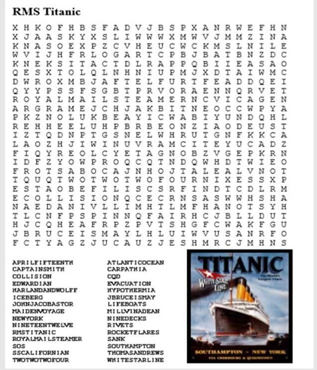 RMS Titanic Puzzle Pack