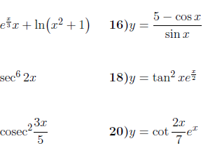 Chain rule worksheets (with answers)