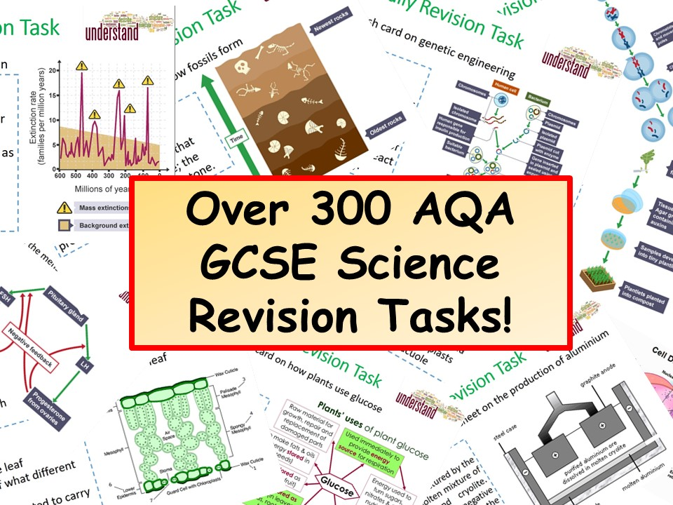 300 KS4 AQA GCSE Science Revision Tasks