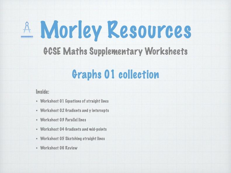 Graphs 01 GCSE Maths Collection