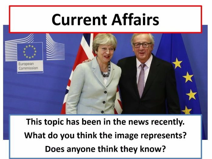 Current Affairs Form Time Activity - Brexit Breakthrough
