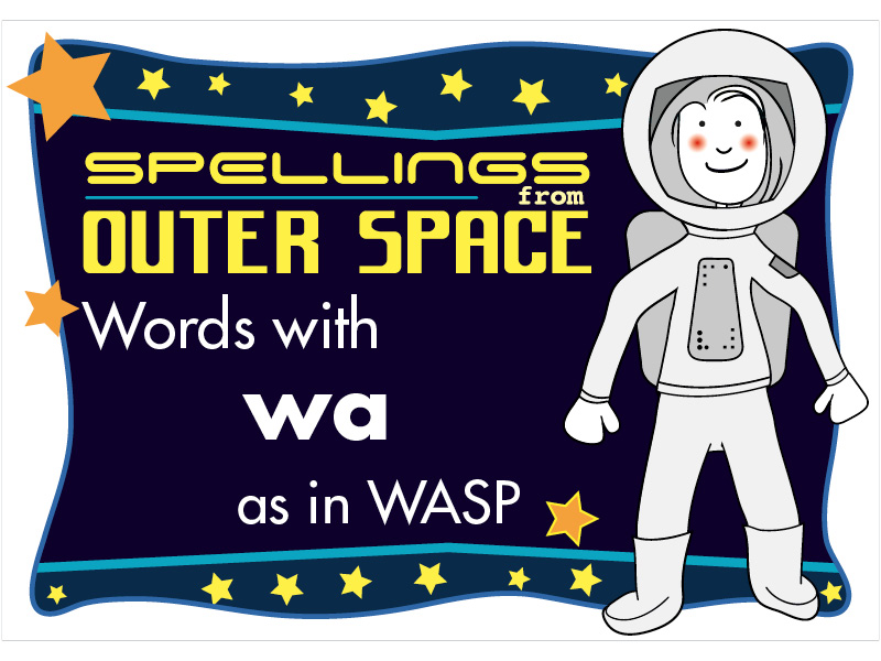 Year 2 Spellings Words with WA as in WASP