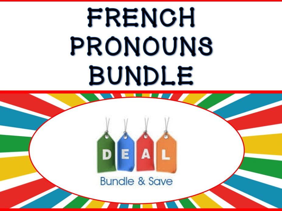 GCSE FRENCH: French Pronoun BUNDLE - Les Pronoms Français