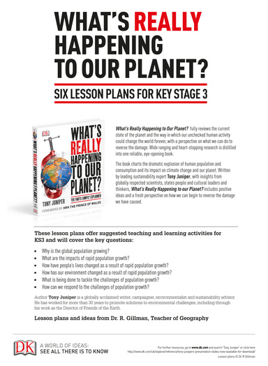 What's Really Happening to Our Planet? Key Stage 3 Lesson Plans