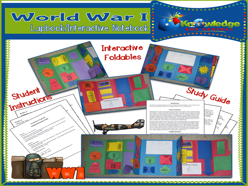 World War I Lapbook