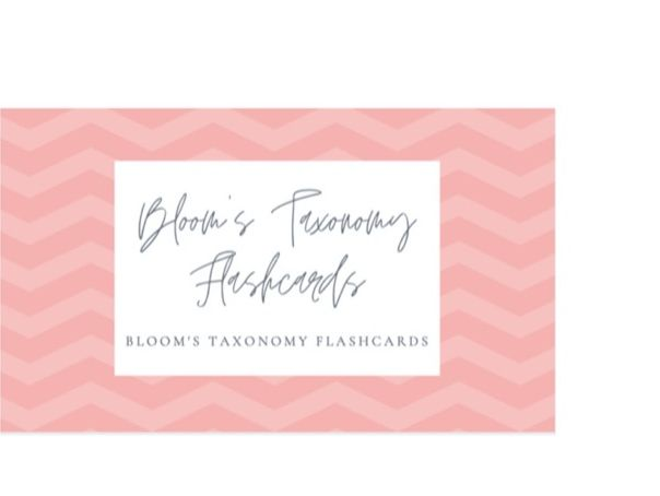 Bloom's Taxonomy Lanyard Cards
