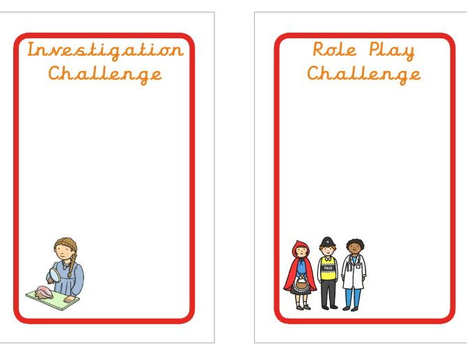 Continuous Provision Challenge Cards (fit IKEA Tolsby Frames)
