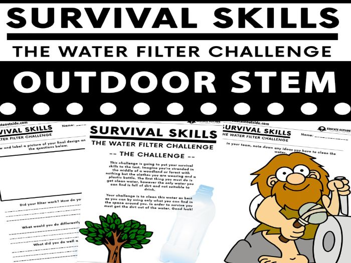 Outdoor STEM: Water Filter Challenge - Materials and Their Properties