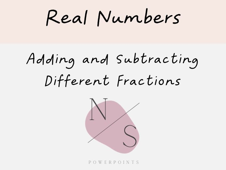 Adding and Subtracting Fractions with Unrelated Denominators Lesson Presentation