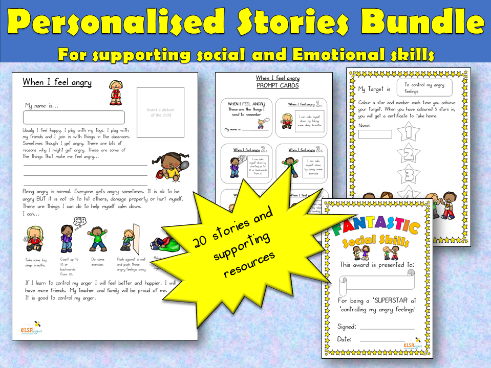 Personalised Stories - PSHE, SOCIAL SKILLS
