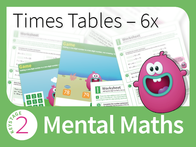 Times Tables Mastery - 6 Times Table