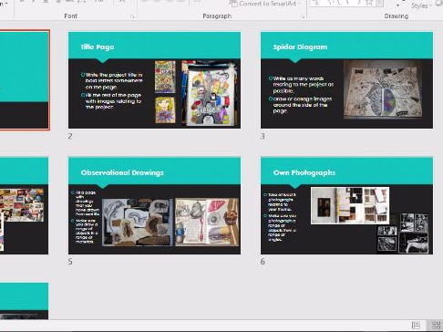 Art and Design GCSE Structure/Examples