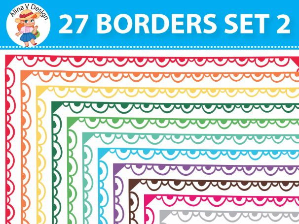27 Colorful Borders Set 2