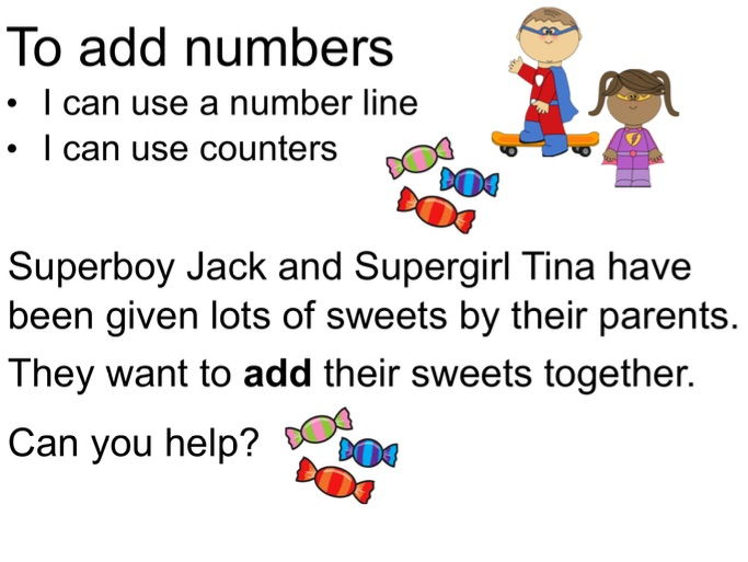 Adding on a number line lesson