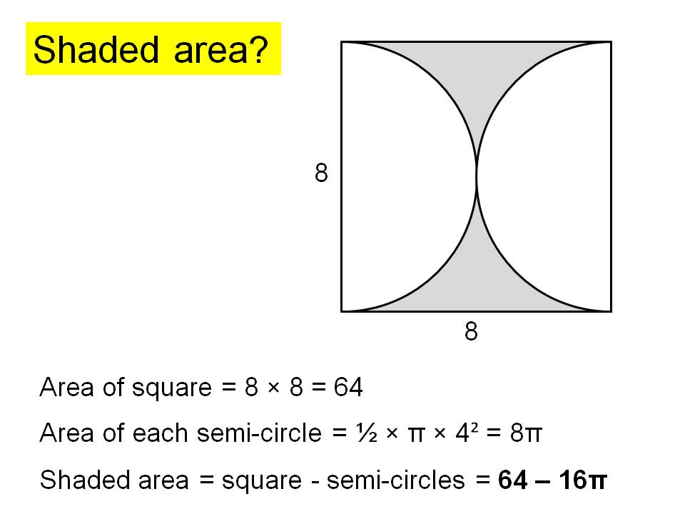 Area of circles problem solving