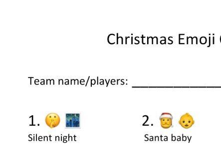 Christmas Song Emoji Quiz Music