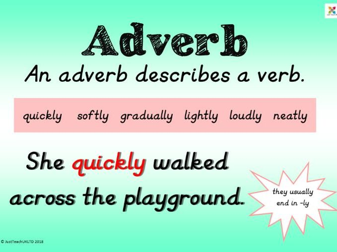 Word class posters - with definition and example sentence. Handy for grammar revision!