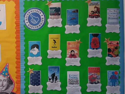 Recommended reads display for KS3/4