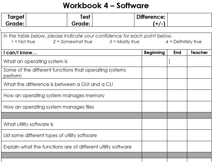 Software - 6 Lesson Workbook (easy to use!)
