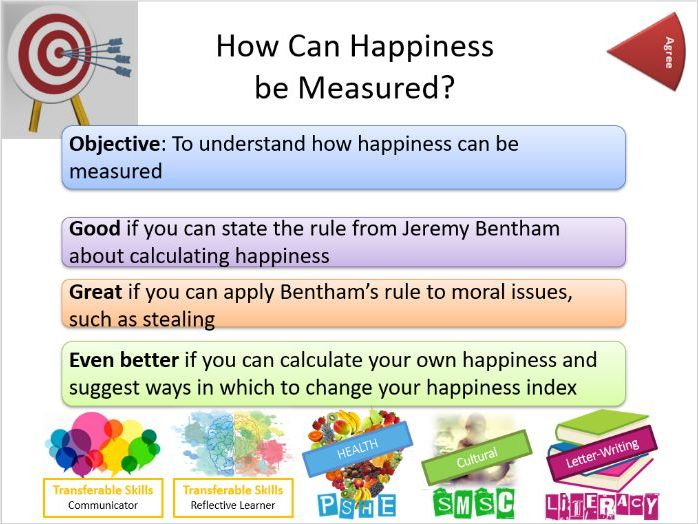 RS / PSHE How do you measure happiness? - Whole Lesson and Resources