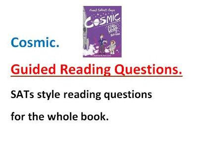 Cosmic. Guided reading questions SATs style