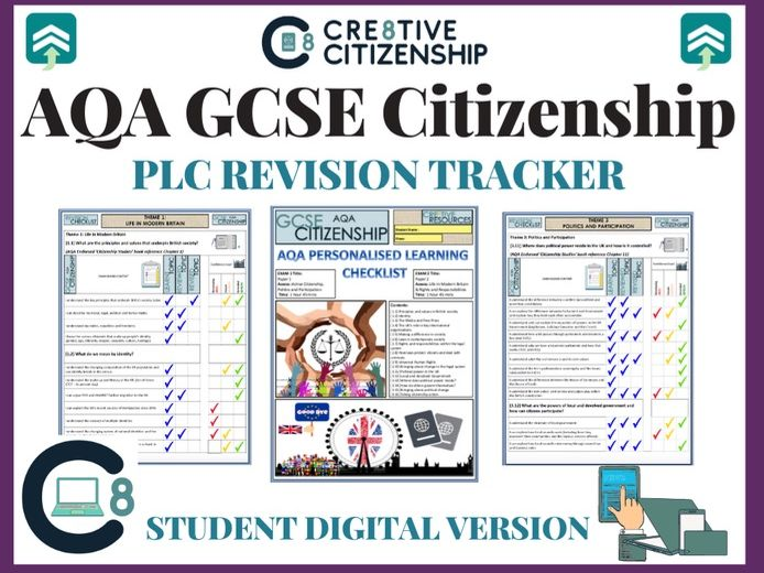 AQA GCSE Citizenship Digital Revision Checklists