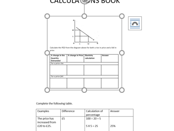 OCR AS Level Economics Calculation Student Book 2020 on