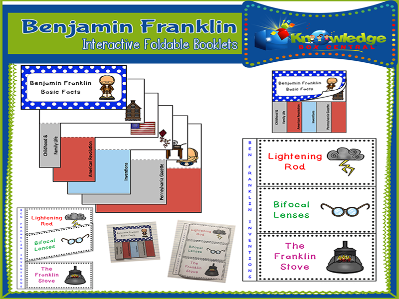 Benjamin Franklin Interactive Foldable Booklets