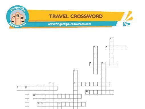 Travel & Holidays Vocabulary Crossword