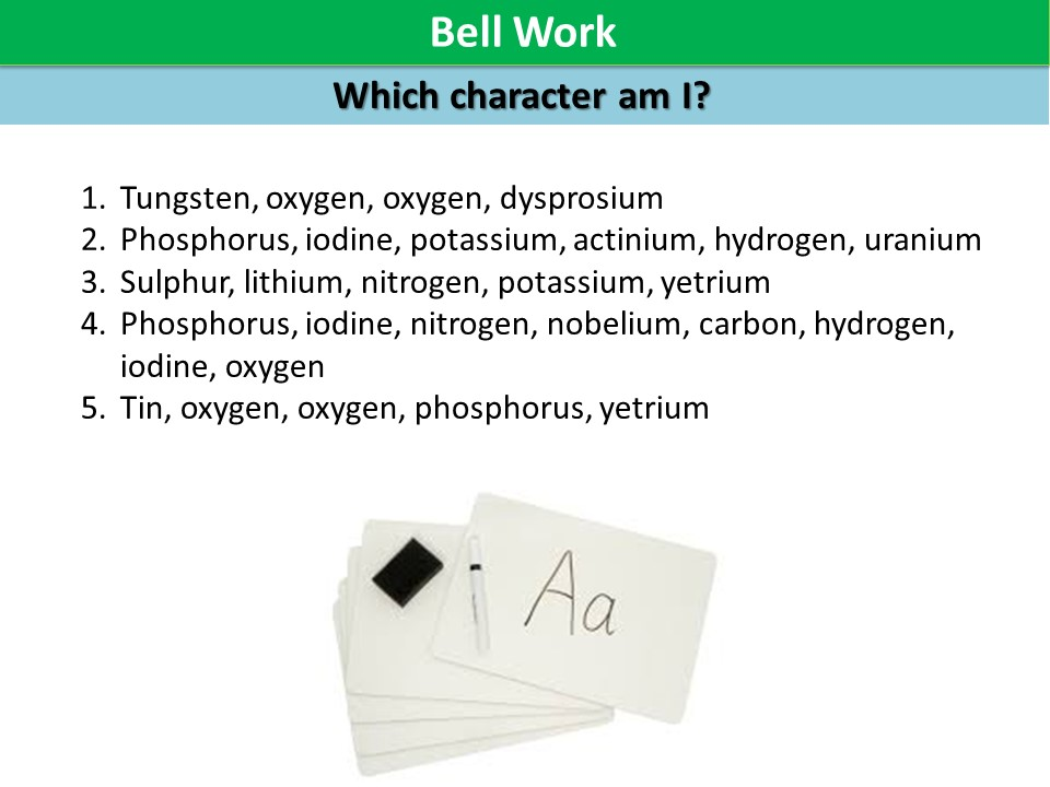 Activate 1 KS3 SOW Chemistry chapter 2 chemical formulae