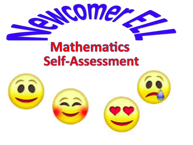 Newcomer ESL Mathematics Self Assessment