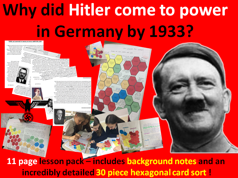 Hitler's rise - 11 page lesson pack